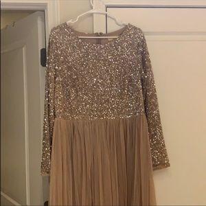 Blush Sequenced Dress